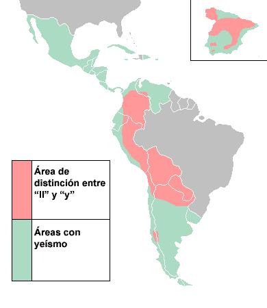 Výslovnost ll a y ve španělštině, yeísmo